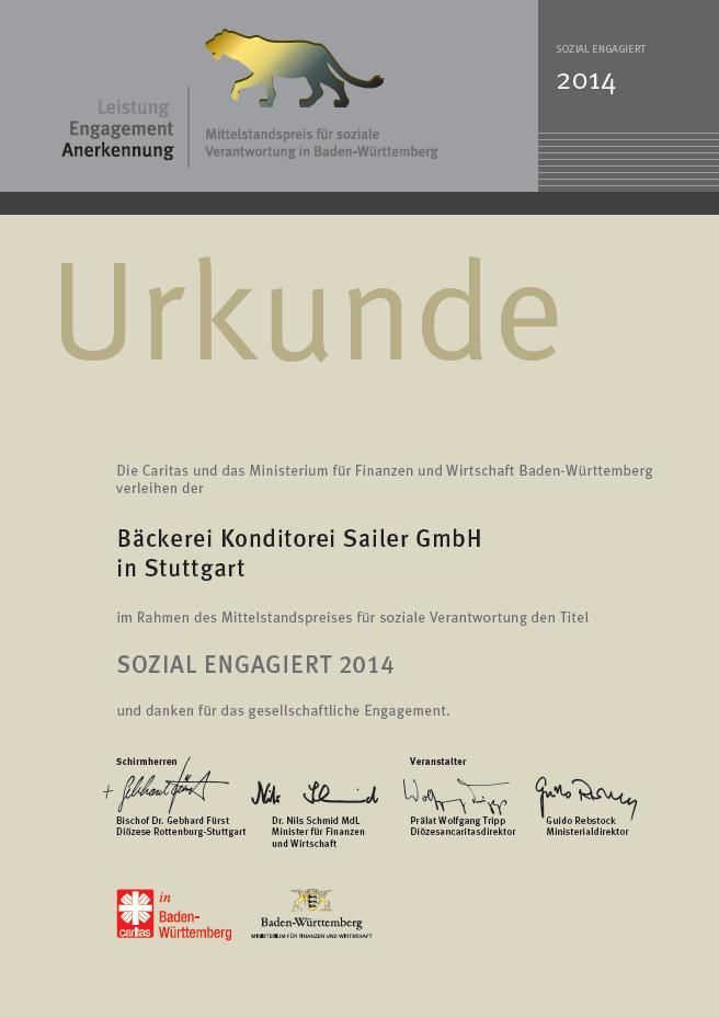 Sozial Engagiert Urkunde